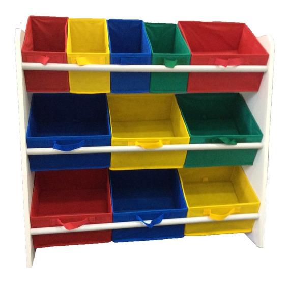 Organizador Porta Brinquedo Infantil Colorido Montessoriano