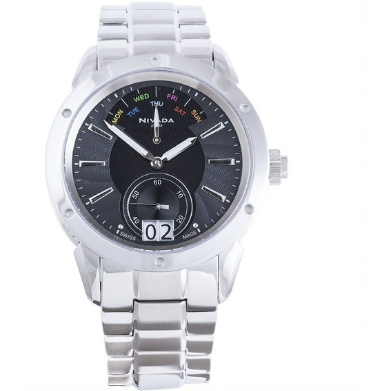 Reloj Nivada Diplomat Ng3077gacni Hombre Original E-watch