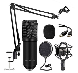 Microfono Estudio Condenser Profesional Usb Gamer Streamer