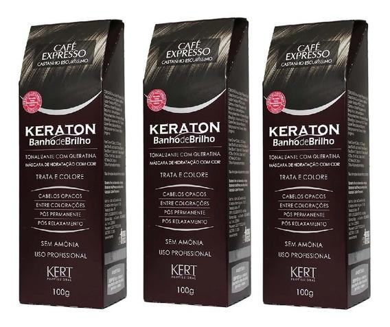 Keraton Banho De Brilho Café Expresso Kert Castanho C/3