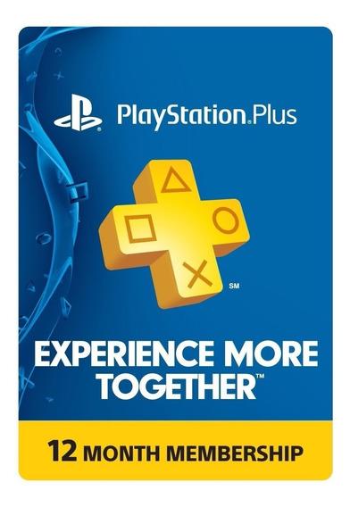 Playstation Plus Membresía 12 Meses - Ps3 Ps4 Psvita Fornite