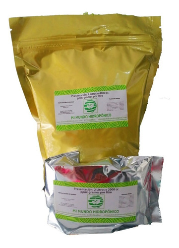 Nutrientes Para Hidroponia Para 1000l