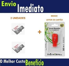 2 Und Cartão Microsd Ultra 64gb Classe10 Sandisk Original