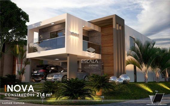 Casa Com 4 Quartos À Venda, 214 M², 4 Vagas, Varanda Gourmet, Financia - Centro - Eusébio/ce - Ca0328