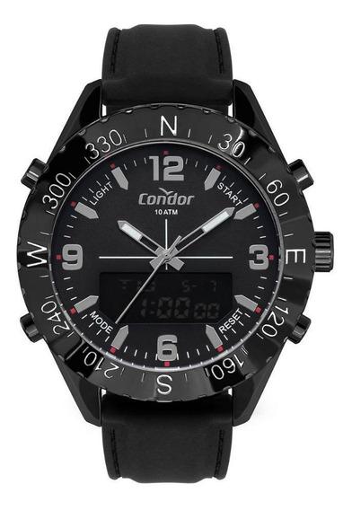 Relógio Masculino Condor Cobj3689aa/2p 50mm Silicone Preto