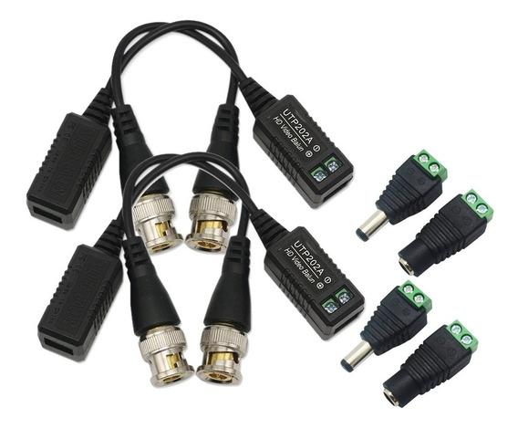 2 Par Balum Video 4mpx 5mpx Transceptor Balun Plug Energia