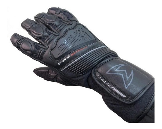 Guantes Moto Cuero Tactil Impermeable Motorman Grizzly