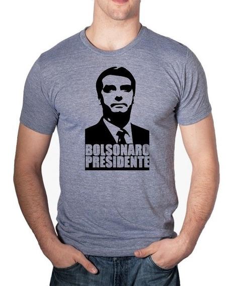 Camiseta Camisa Blusa Bolsonaro 2018 Presidente Branca