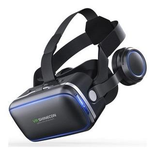Óculos Vr Realidade Virtual 3d Shinecon 10.0 Fone E Controle