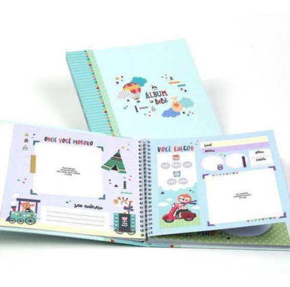 Álbum Do Bebê - Bichinhos Modelo Super Luxo