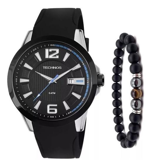 Relógio Technos Masculino Racer 2115knw/8p + Pulseira Onix