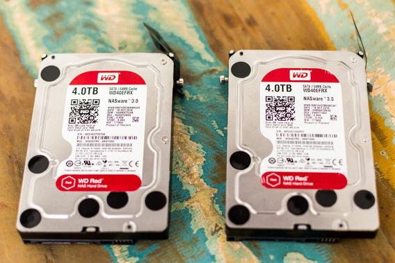 2 Hard Disks Hd Wd Red Para Nas 4tb (preço Do Par) - Baixei!