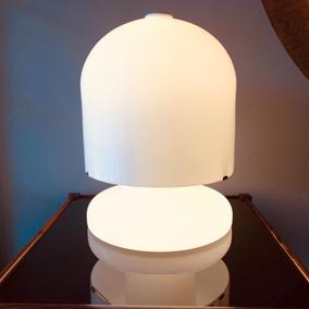 Luminária Em Opalina Italiana Base Iluminada