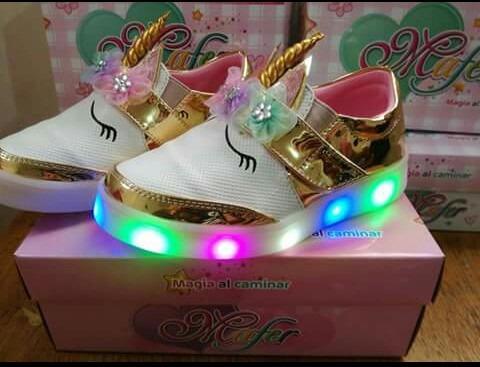 7f0e97b8 Zapatillas Zapatos Mocasines Unicornio Luces Tallas 22 Al 32