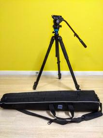 Tripé Vídeo Benro S6 - 6kg C/ Cabeça Hidráulica - Completo