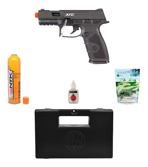 Pistola Airsoft Ics Black Leopard Preta+ Acessórios + Maleta