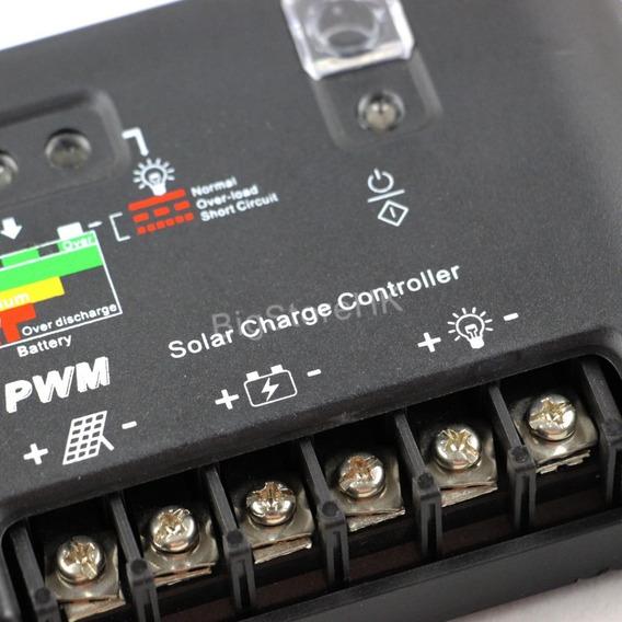 Controlador De Carga 40a Solar Pwm 12v 24v Envio Imediato