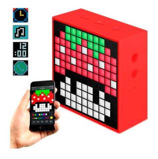Parlante Bluetooth Divoom Timebox Alarma Rojo