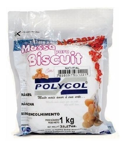 Caixa Massa De Biscuit Polycol 2 Kg Natural
