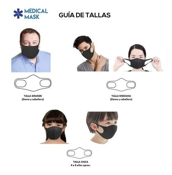 Kit De 5o Pzas De Mascarilla Lavable Talla Mediana