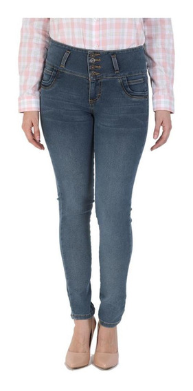 Jeans Casual Lee Mujer Pretina Alta Booty Up R50