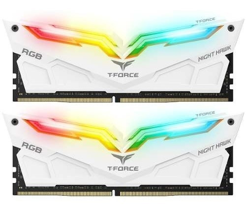 Memoria Team Ddr4 16gb 2x8 3200mhz Night Hawk Rgbwhite/black