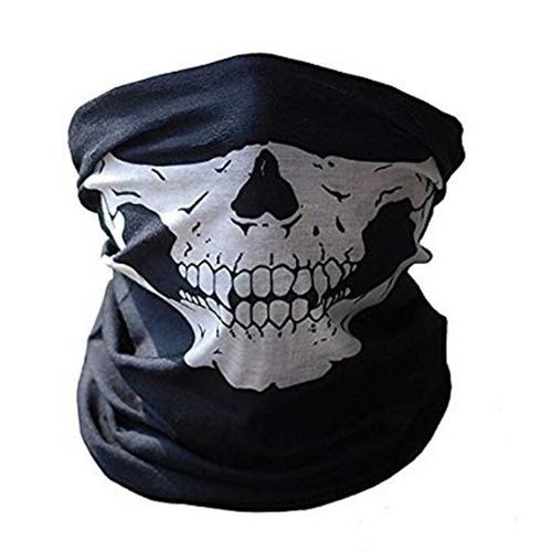 Bandana Balaclava Mascara Craneo Calavera Antipolucion