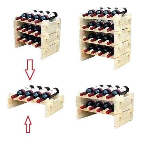 Botellero De Sobremesa Apilable 4 Botellas, Envio Inmediato