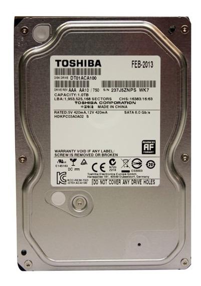 Hd Toshiba Dt01aca100 1tb 7200rpm Sata Iii Cache 3.5