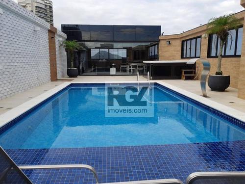 Imagem 1 de 30 de Cobertura Com 4 Dormitórios À Venda, 700 M² Por R$ 6.400.000,00 - Ponta Da Praia - Santos/sp - Co0294