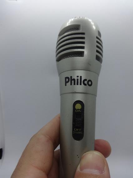 Microfone Karaokê Philco + Cabo 2 Metros