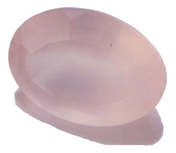 Cristal Rosa Claro Oval Natural Pedra Preciosa 12klt J19788