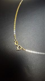 Correntinha De Ouro Piastrine Masculina 18k 0.750 50cm