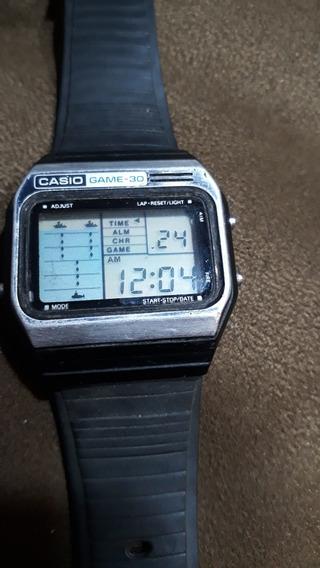 Relogio Relíquia Anos 80 Casio Game 30 Tudo Funcionando.