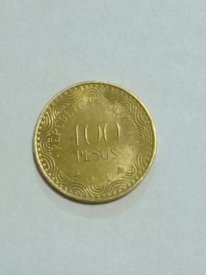 Moneda De Colombia 100 Pesos 2014