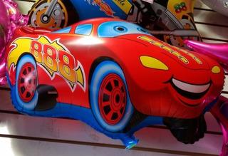 Balões Carros Festas Infantis 12 Unidades Com Canudo