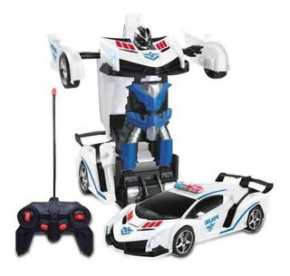 Transformers Auto Policia Robot A R/c 4 Canales