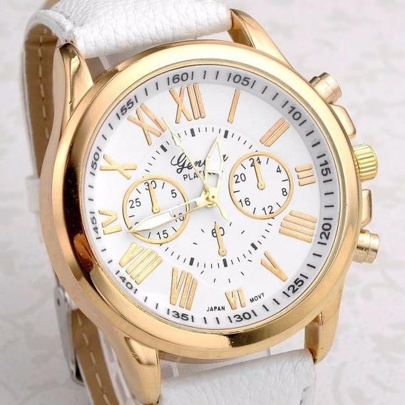 Relógio Feminino Dourado Geneva - Última Peça.
