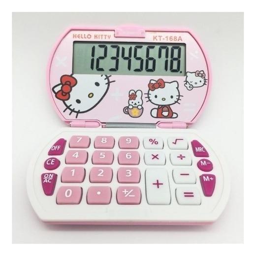 Calculadora Kitty Con Tapa 12 Digitos Kt200 Full