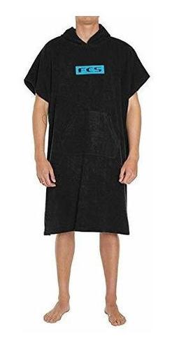 Poncho De Toalla Color Negro Fcs