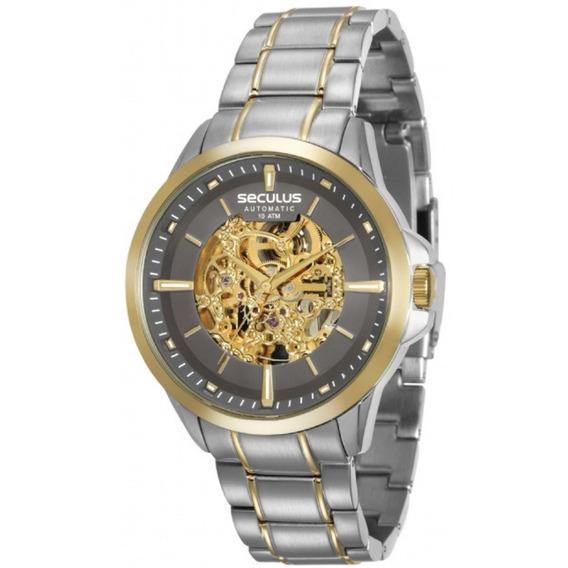 Relógio Masculino Seculus Bicolor Automatico 20552gpsvba2