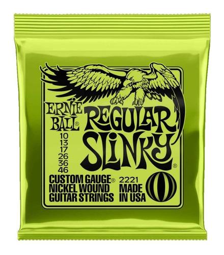 Imagen 1 de 10 de Encordado Cuerdas 010 Ernie Ball 2221 Guitarra Electica*