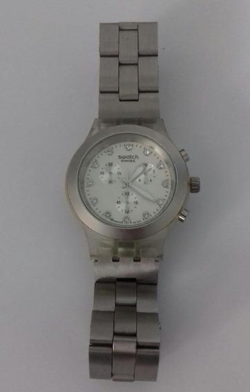Relógio Swatch Swiss Diaphane Prata Ag 2011