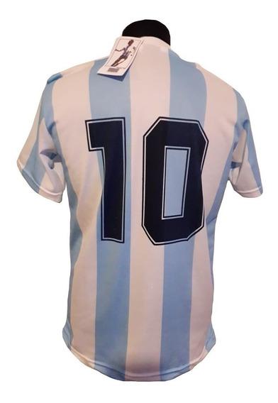 Camiseta Retro Argentina Titular Mex.86 Diego Campeon!