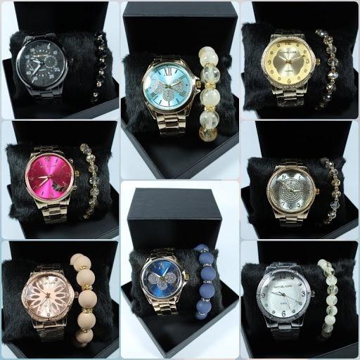 Relógios Femininos De Luxo Kit C/5 Para Revenda Pulseira+bat