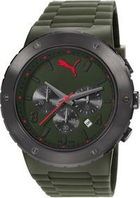 Relógio Masculino Puma Cronográfo 96231g0pmnp2 Verde Militar