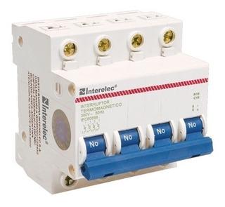 Llave Térmica Termomagnética Tetrapolar 40a 4x40 Interelec