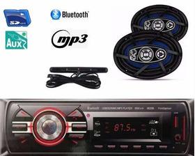 Kit Som  Radio Mp3 Bluetooth + Auto Falante 6x9 200w+antena