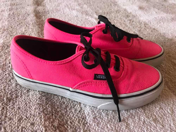 Zapatillas Vans Authentic Fucsia Impecables Originales