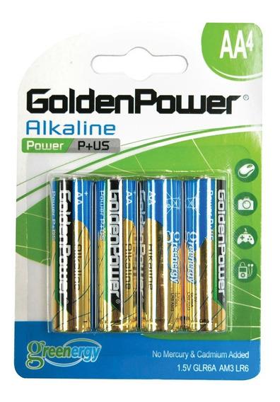Bateria Golden Power Alkaline Aa 1.5v Caixa C/ 40 Unidades